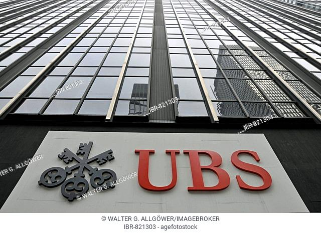 Local offices of UBS, the world's largest asset manager, Manhattan, New York City, USA