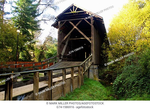 Highest Covered Bridge in North America Felton California USA