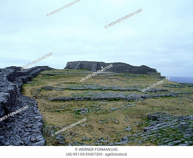 The Fort of Dun Aengus on the Isle of Inishmore, Co