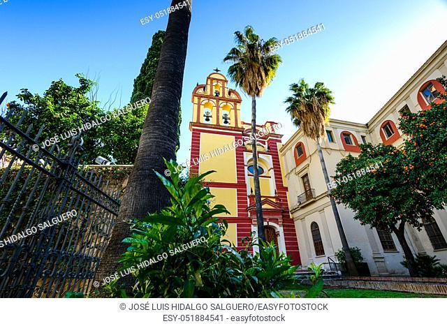 Church of San Agustín in Málaga, Andalusia, Spain, Europe