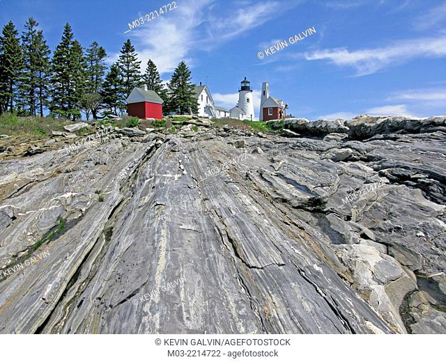 Maine coast Pemaquid Point Lighthouse