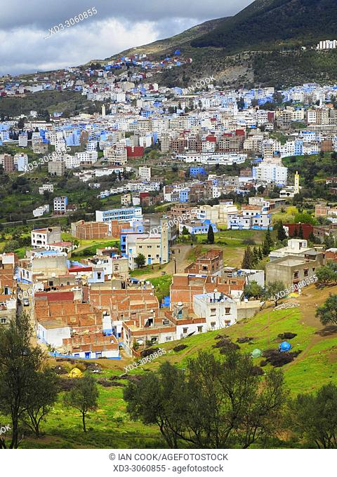overview of Chefchaouen, Morocco