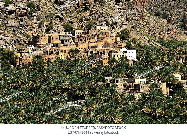 Al Misfah in the Hajar Mountains, Sultanate of Oman