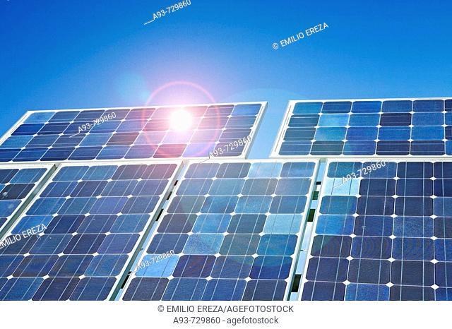 Solar panels. Lleida, Catalonia, Spain