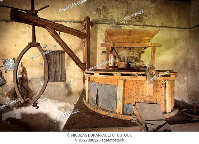 Machinery of an old mill Stock Photos and Images   age fotostock
