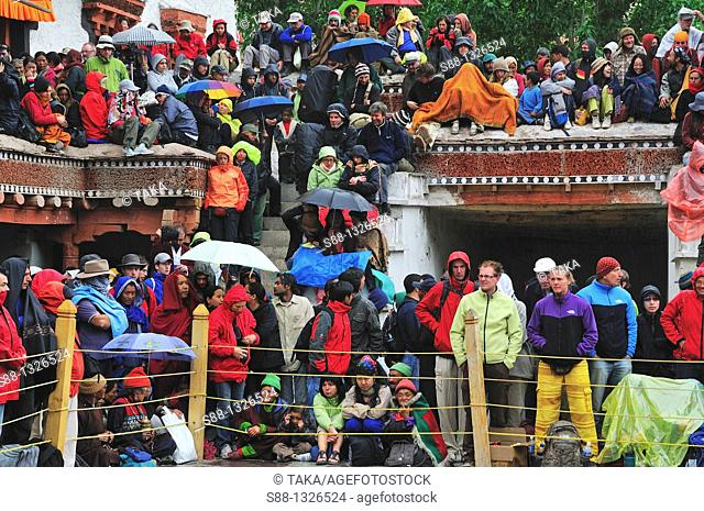 Chaam Musk Dance Festival started at Hemis Gompa. Jammu and Kashmir, India