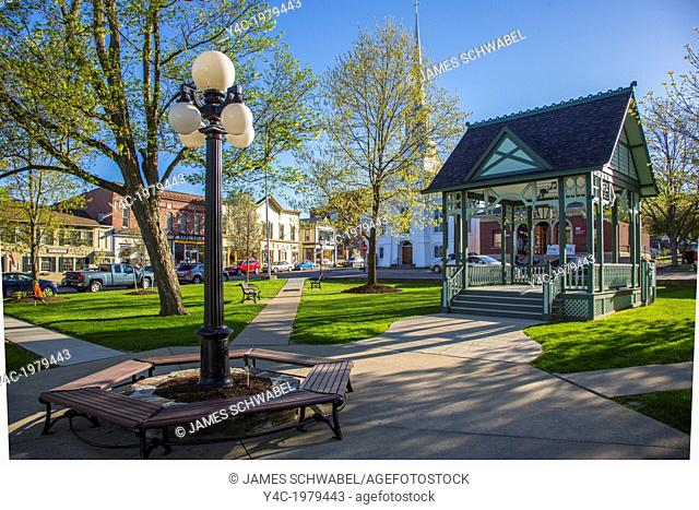 Pulteney Park in the Village of Hammondsport in the Finger Lakes reion of New York State