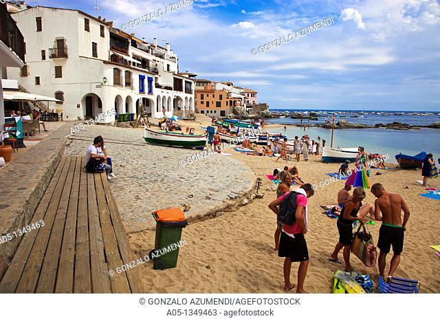 Beach  Calella de Palafrugell, Palafrugell, Baix Empordá, Costa Brava, Girona Province, Catalonia, Spain