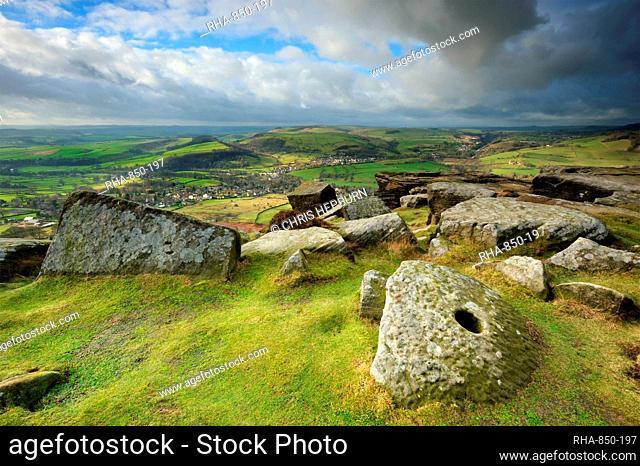 Curbar Edge, Peak District National Park, Derbyshire, England, United Kingdom, Europe