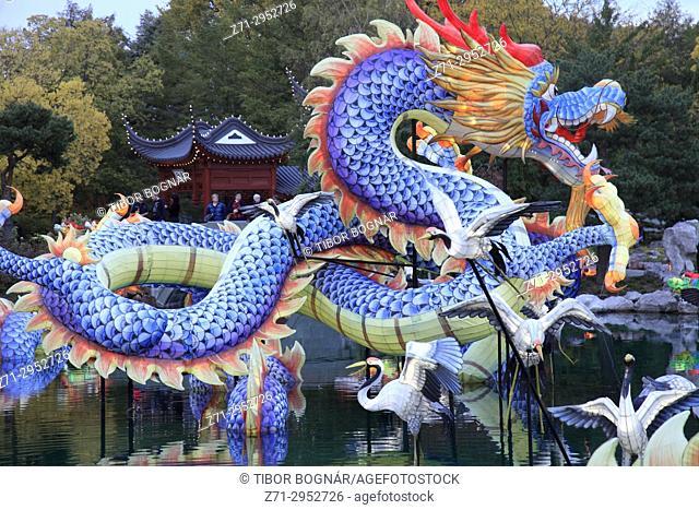 Canada, Quebec, Montreal, Botanical Garden, Chinese Garden, Lantern Festival, Gardens of Light,