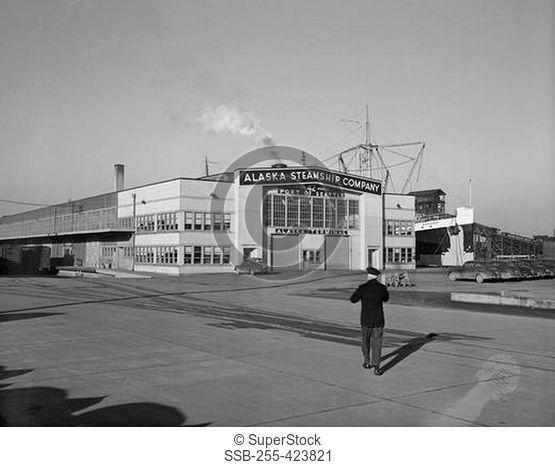 USA, Washington, Seattle, Alaska Steam Ship Company building
