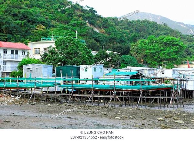 Fishing village Tai O in Hong Kong