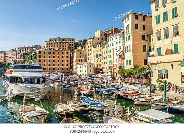 Fishing Port of Camogli in Liguria, North West Italy