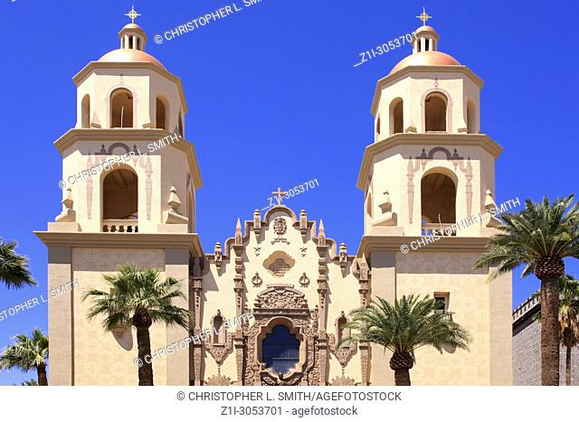 St. Augustine Catholic Church on Stone Ave in Tucson, Arizona, USA