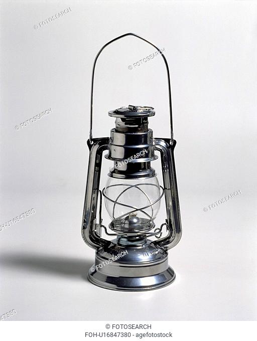 Close-up of metal and glass lantern