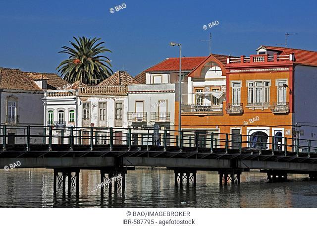 Old town at the Gilao river, Tavira, Algarve, Portugal