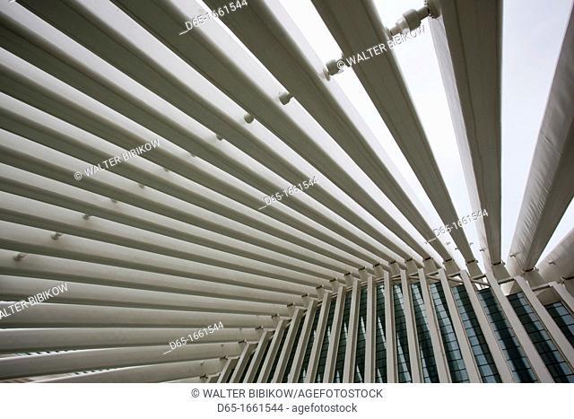 Spain, Asturias Region, Asturias Province, Oviedo, Palacio de Exposiciones y Congresos, convention center by Santiago Calatrava, architect, built 2011