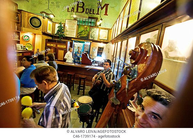 La Bodeguita del Medio, a bar in Old Havana Habana Vieja popularized by Ernest Hemingway  Havana Vieja District, Havana, Cuba