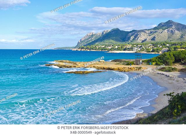 Platja de Sant Joan, Badia de Pollenca, Bay of Pollensa, Mallorca, Balearic islands, Spain