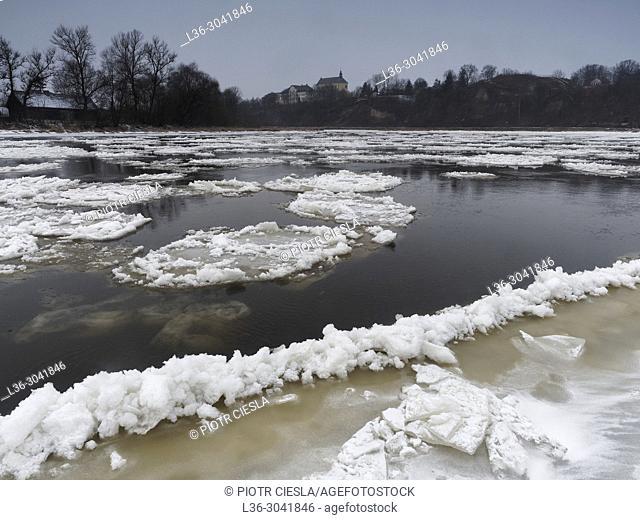 Poland. Podlasie region. River Bug by Drohiczyn town