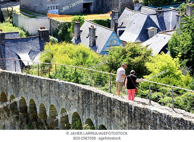 Le Bastion Mercoeur ou le Grand Fort, Dinan, Bretagne, Brittany, France