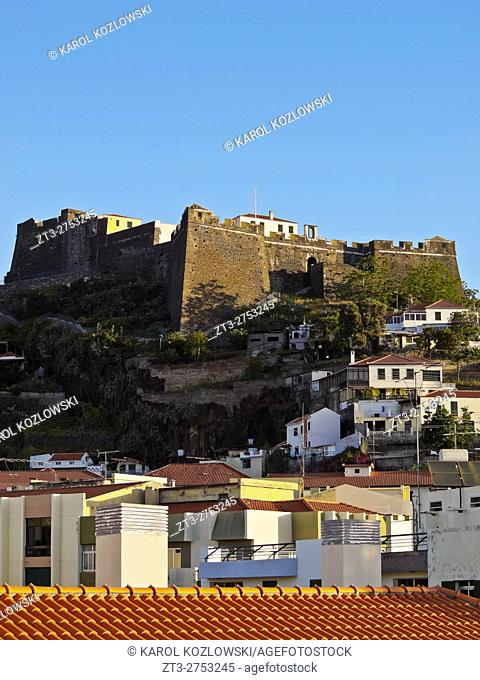 Portugal, Madeira, Funchal, View of the Fortelaza do Pico.