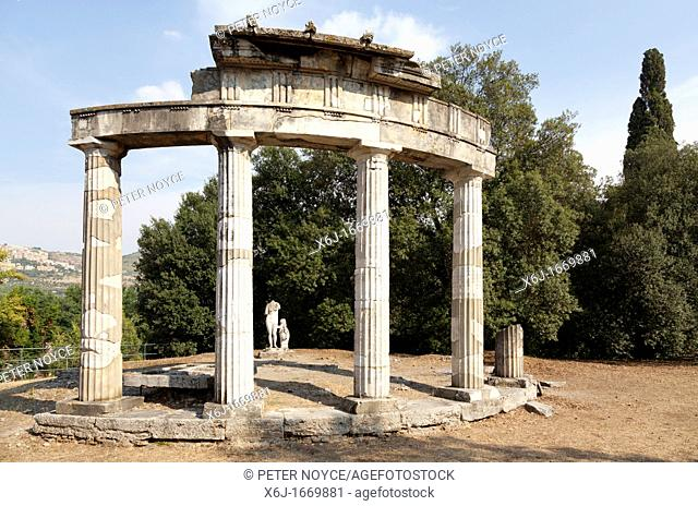 Nympheum and the Temple of Venus at Hadrian's Villa, Tivoli, Italy
