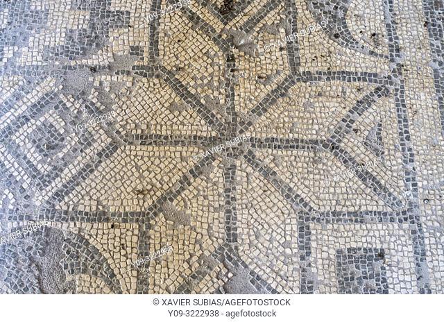 Mosaic, Ancient theatre, Taormina, Sicily, Italy,