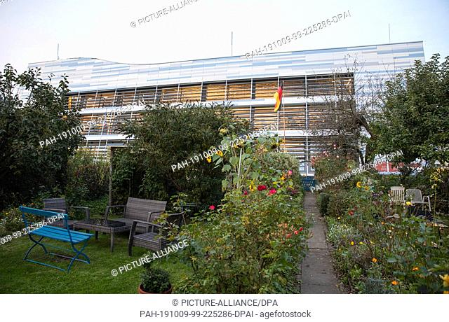 ATTENTION: EMBARGOED FOR PUBLICATION UNTIL 09 OCTOBER 23:00 GMT! FREI FÌR DONNERSTAGAUSGABEN - 07 October 2019, Hamburg: View over an allotment garden of the...