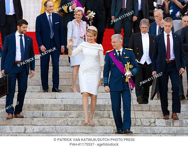 Prince Philippe and Princess Mathilde attend the Te Deum mass at the Cathedral of St Michael and St Gudula in Brussels, Belgium, 21 July 2013