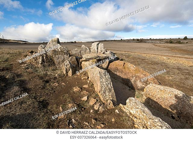 Prehistocric megalithic Dolmen in Mazariegos, Burgos province, Spain