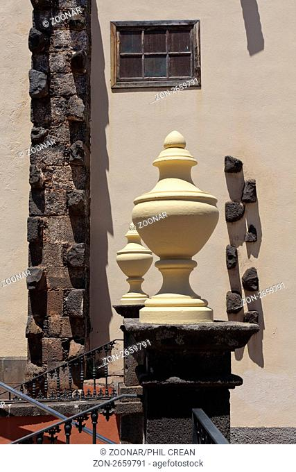 Abstract architectural detail at the church of San Cristobal in La Laguna Tenerife Canary Islands Spain