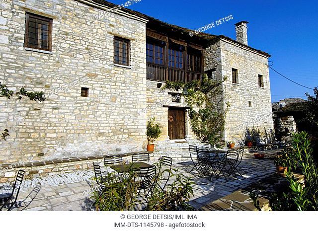 The guest house, 'To Archontiko Tis Aristis' in Aristi village. Ioannina, Epiros, Greece, Europe