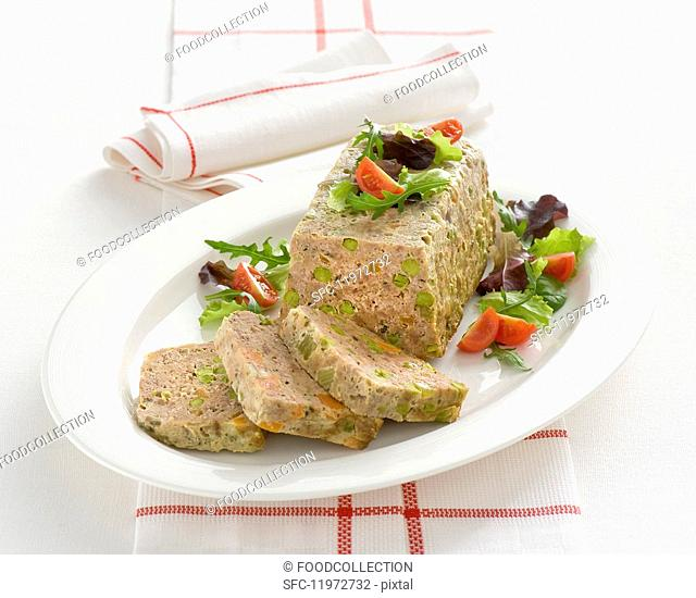 Polpettone con verdure (meatloaf with vegetables, Italy)