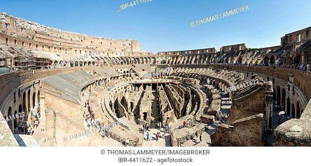 Indoor view of the Colosseum, Rome, Lazio, Italy