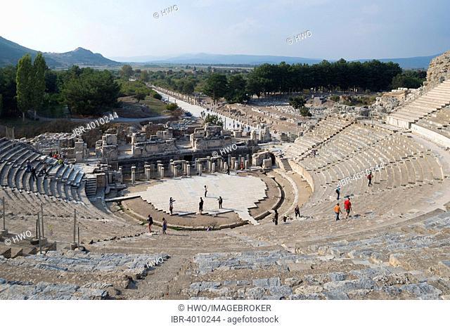 Great Theater, ancient city of Ephesus, UNESCO World Heritage Site, Selçuk, Izmir Province, Turkey