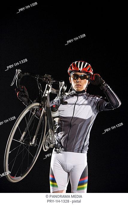 a male cyclist