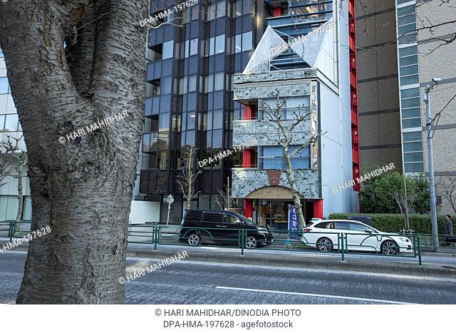 Trees on streets, tokyo, japan