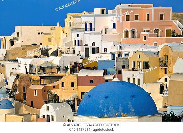 The village of Oia  Santorini, Cyclades Islands, Greece