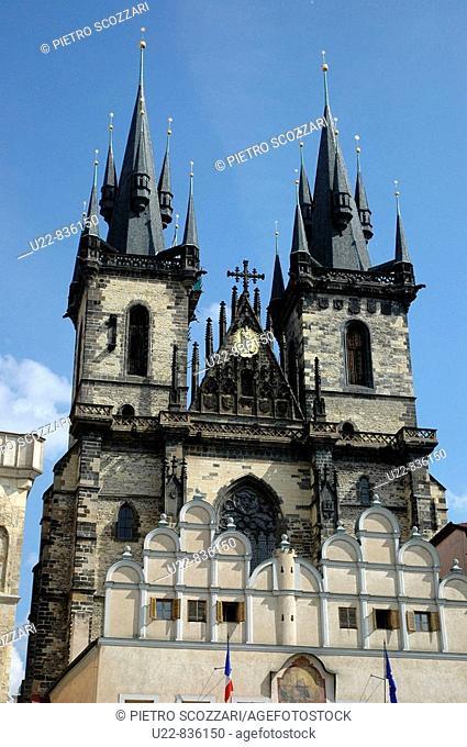 Prague Czech Republic, the Tyn church