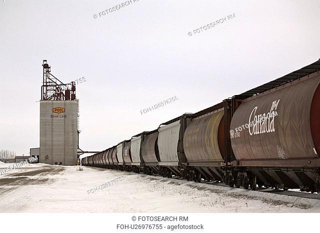 grain, passing, inland, lake, foam, train