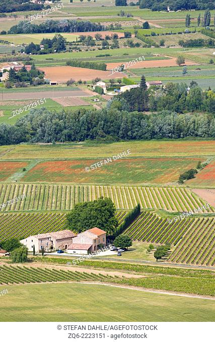 Typical Landscape near Lacoste, Provence, France