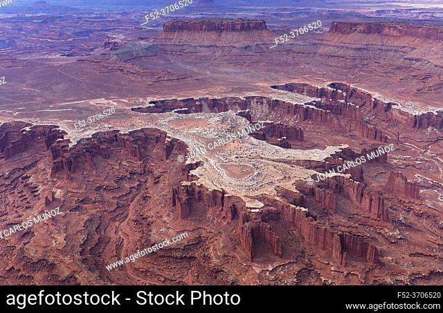 Aerial View, Canyonlands National Park, Utah, Usa, America