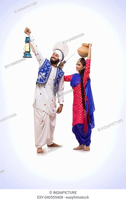 Sikh couple Standing