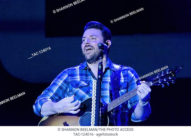 Chris Young preforms at day 2 of the Route 91 Harvest Festival at the Las Vegas Village on October 1st 2016 in Las Vegas, Nevada