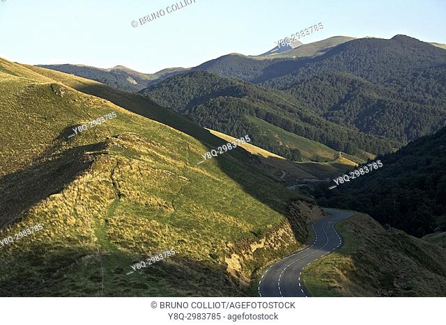 landscape between the chapel st sauveur and the chalets of iraty. GR10