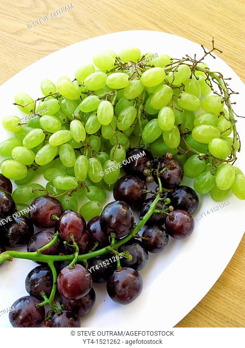 A plate of Grapes as a Dessert, Chania, Crete, Greece