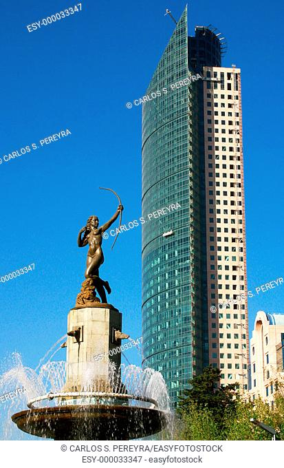Statue of Diana, monument at Paseo de la Reforma avenue. Mexico City. Mexico