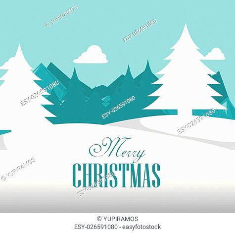 happy merry christmas icon vector illustration icon