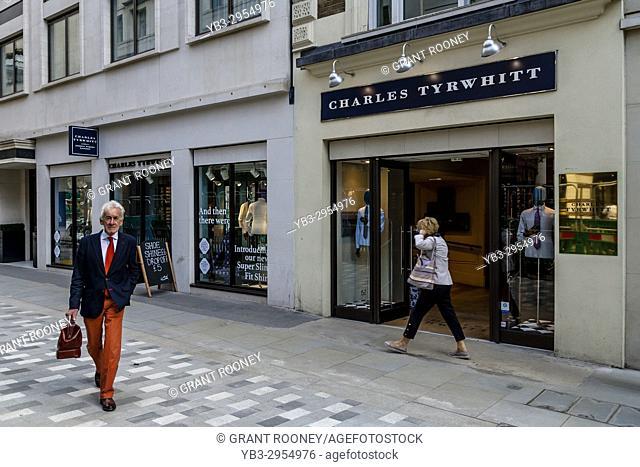 Charles Tyrwhitt Men's Clothing Shop In Jermyn Street, St James's, London, UK